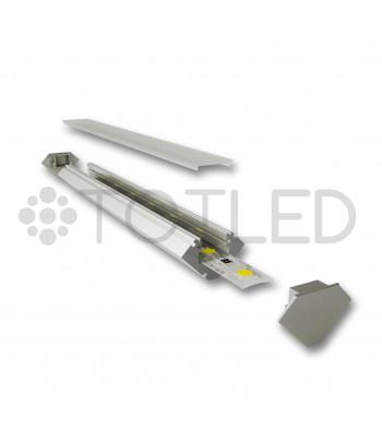 Perfil de aluminio negro LN LPSN