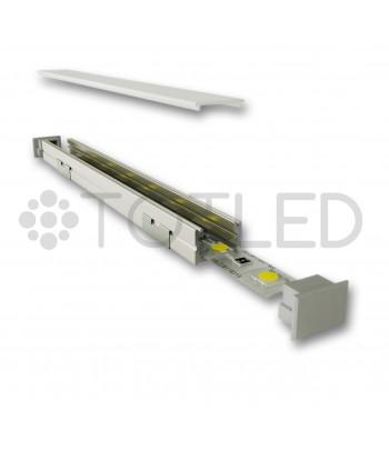 Perfil de aluminio negro LN LPR/2N