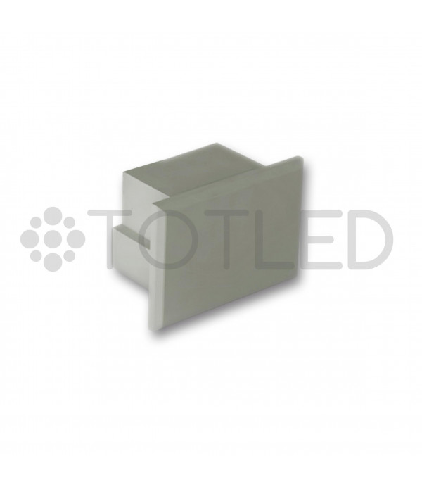 Tapa negra sin agujero para perfilería LPR /2N