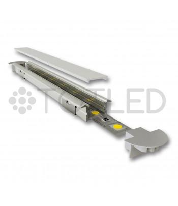 Perfil de aluminio negro encastrable LN 04.002