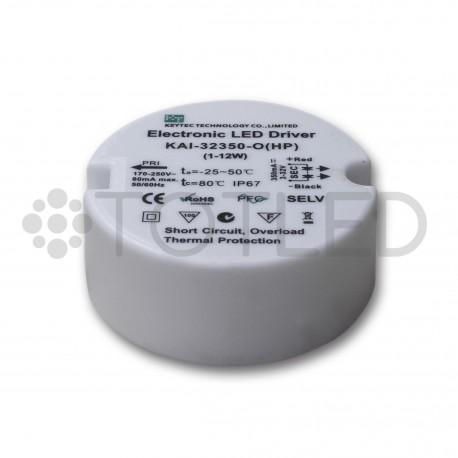 Transformador IP67 3-32V 350mA 0/10W