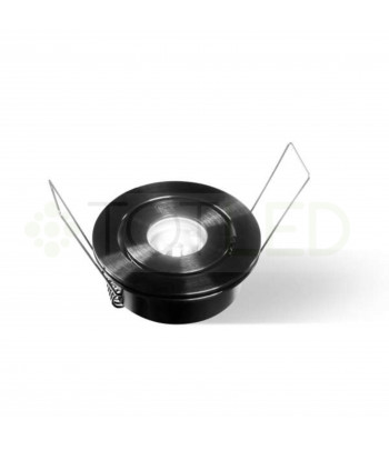 FOCO LED 3W 4000K 8-25VDC EMPOTRABLE NEGRO