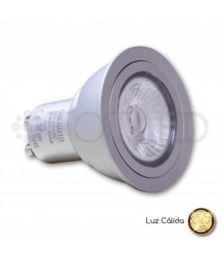 Bombilla Dicroica LED GU10 5W (Cálida)