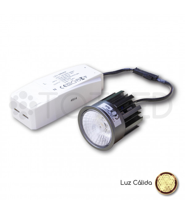 Nueva Dicroica LED + Driver 8,5W (Cálida)
