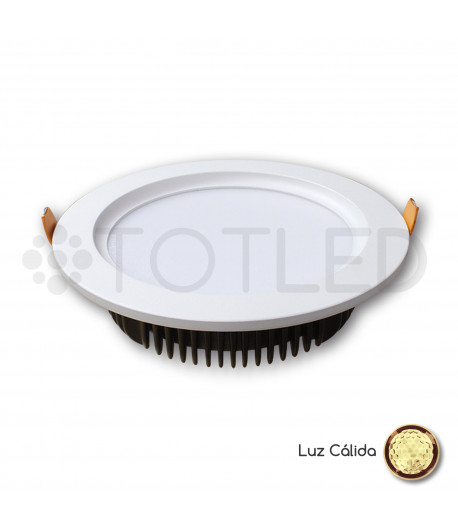 Downlight circular LED Blanco 12W (Cálido)