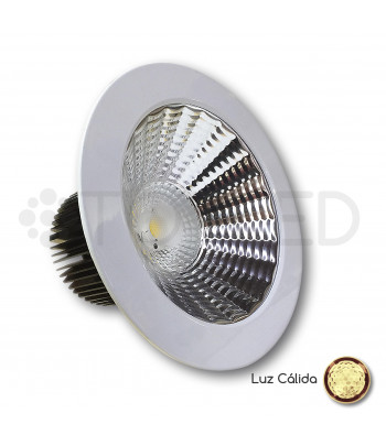 Downlight LED Blanco 33W (Cálido) + Driver dimable