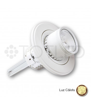 Downlight circular LED Blanco 35W + Driver Dimable (Cálido)