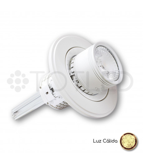 Downlight circular LED Blanco 35W + Driver Dimable (Cálido)