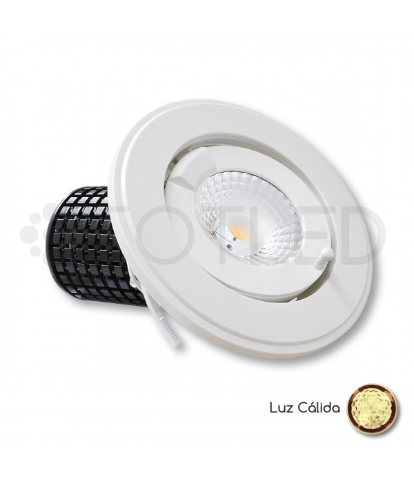 Downlight circular LED Orientable 35W + Driver Dimable (Cálido)