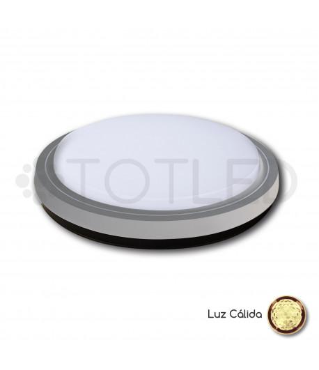 Plafon de superficie LED Gris 29W (Cálido)