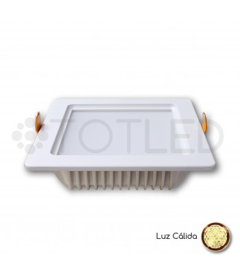 Downlight LED Blanco 12W (Cálido)