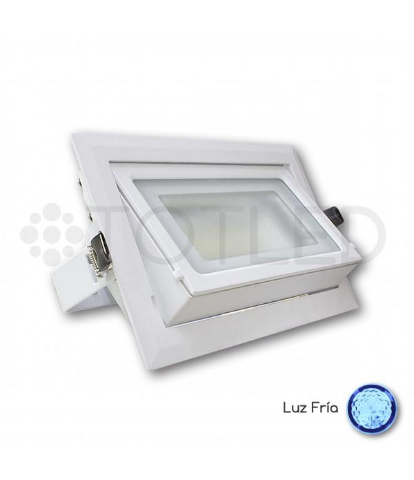 Downlight LED blanco rectangular 40W (Frío)