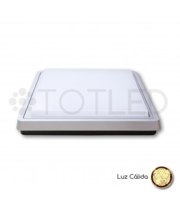 Downlight de superficie LED gris 29W (Cálido)