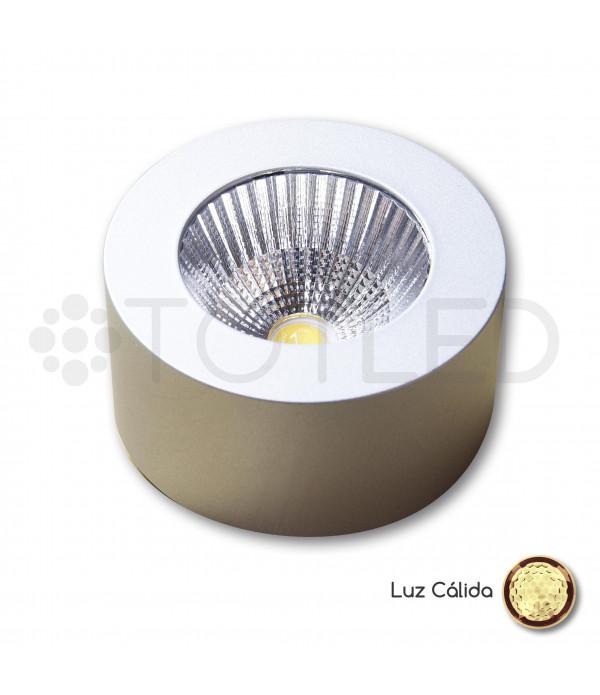 Foco LED Mini Aluminio Redondo 3,3W Cálido