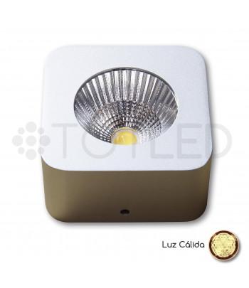 Foco LED Mini Aluminio Cuadrado 5W Cálido
