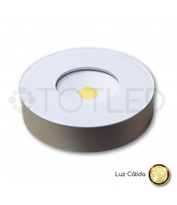 Foco LED Mini Blanco Redondo 5W Cálido