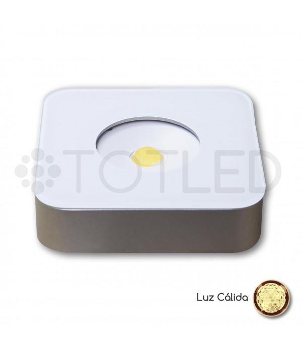 Foco LED Mini Blanco Cuadrado 3,3W Cálido
