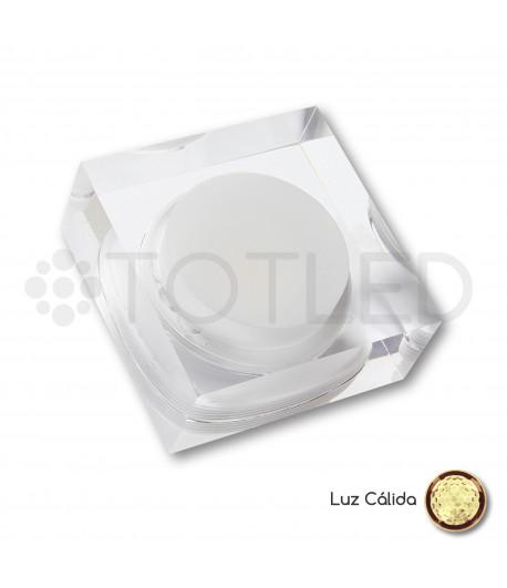 Foco LED Mini Transparente Cuadrado 2W Cálido