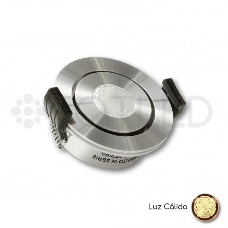Foco LED Mini Empotrable Orientable 3W Cálido