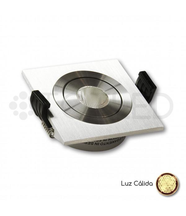 Foco LED Mini Empotrable Orientable 3W Cálido