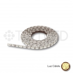 Tira LED 12V Blanca cálida NO IP 4,8W