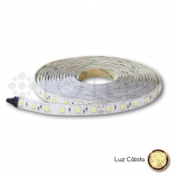 Tira LED 24V Blanca cálida NO IP 10W
