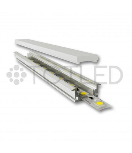 Perfil de aluminio encastrable LN LPD