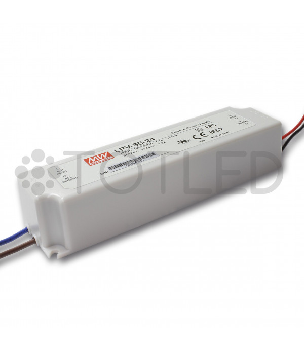 Transformador Mean Well 24V 35W