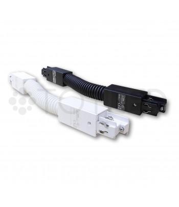 Unión flexible para carril trifásico (color negro)