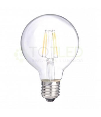 Bombilla de filamentos LED E27 7W (Cálida)