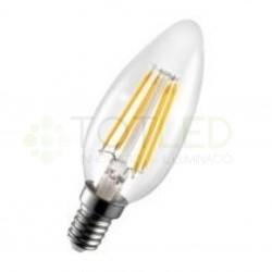 Bombilla LED E14 4W FILAMENTOS (Cálida)