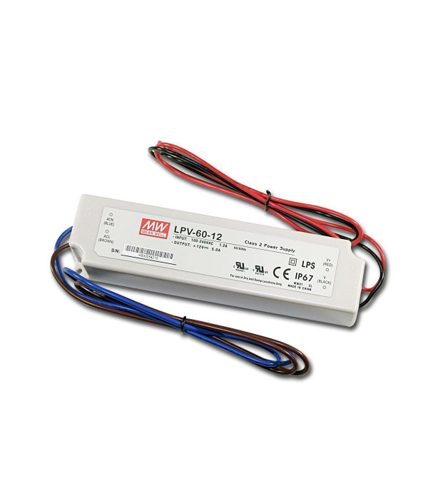 TRANSFORMADOR MEAN WELL 60W 12V IP67