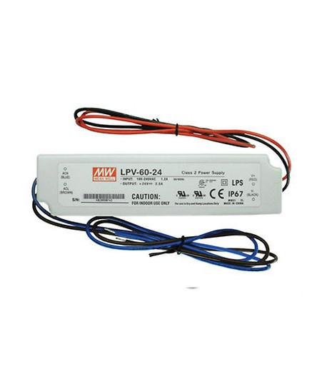 TRANSFORMADOR MEAN WELL 60W 24V IP67