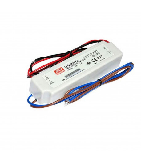 TRANSFORMADOR MEAN WELL 35W 12V IP67