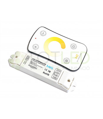 Controlador LED PARA TIRAS MONOCOLOR + RECEPTOR