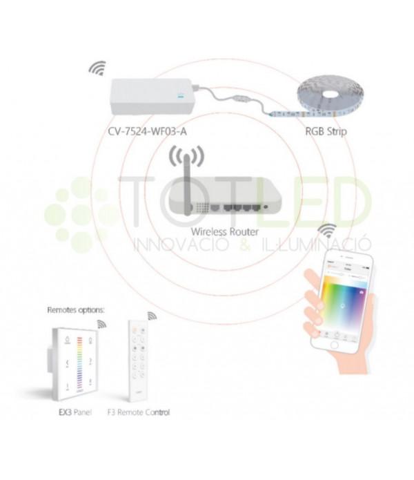 TRANSFORMADOR WIFI RGB 24V 75W
