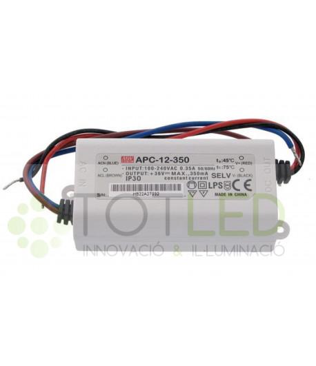 Transformador IP67 3-32V 350mA 0/12W