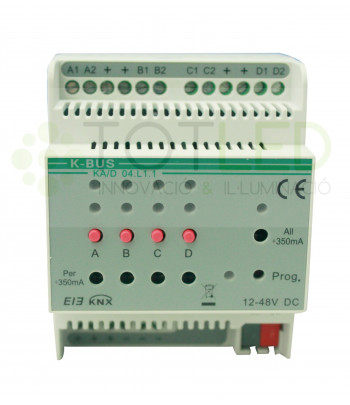 Dimmer 1-10Vdc 4 Canales 350mA LED
