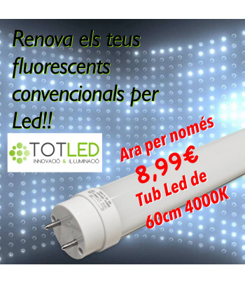 Fluorescente LED T8 60 (Neutral)