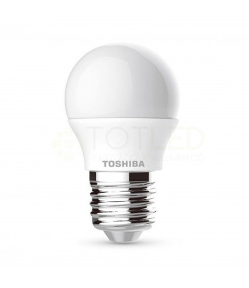 Bombilla ESFERICA TOSHIBA LED E27 5W (Cálida)