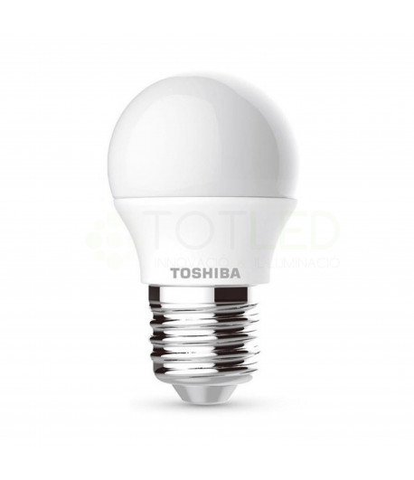 Bombilla ESFERICA TOSHIBA LED E27 5W (Neutral)