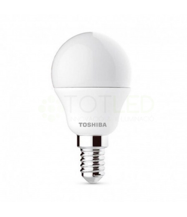 Bombilla LED TOSHIBA Redonda E14 5W (Cálida)