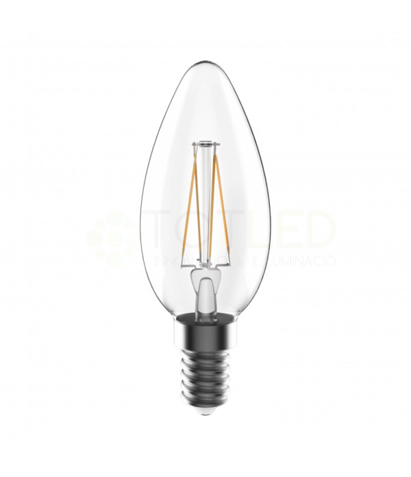Bombilla LED TOSHIBA E14 5W FILAMENTOS (Cálida)
