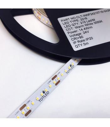 Tira LED 24V Blanca cálida 3000K IP20 5M 14,4W