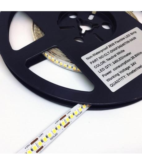 Tira LED 24V Blanca neutral 4000K IP20 28,8W